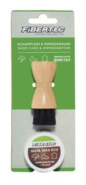 Fibertec Shoe Care Kit Schuhpflege Mini Set 28ml mit Auftragebürste