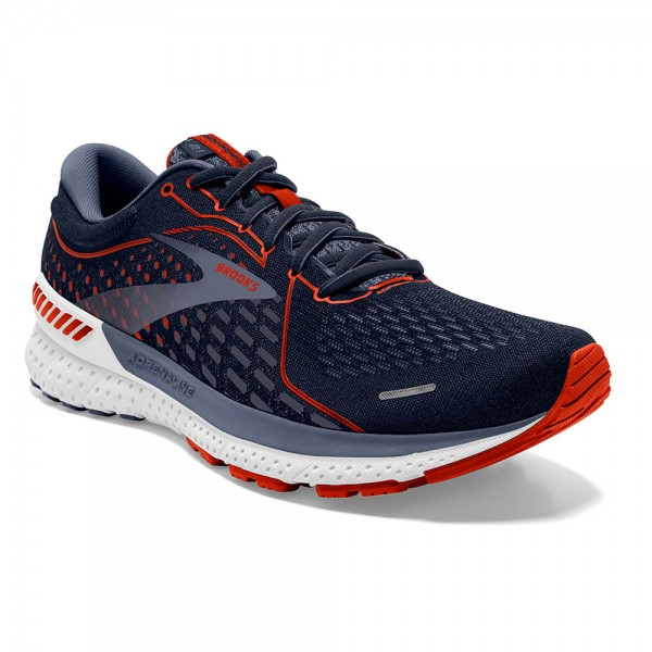 Brooks Adrenaline GTS 21 2E-Weite (breit) Herren Laufschuh Stabilität - 110349 2E 452 Navy/Red Clay/Gray