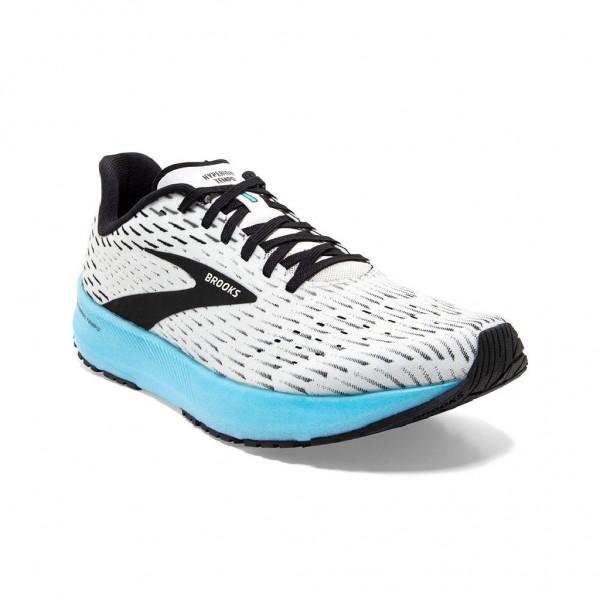Brooks Hyperion Tempo Damen Laufschuh Wettkampf - 120328 1B 129 - White/Black/Iced Aqua
