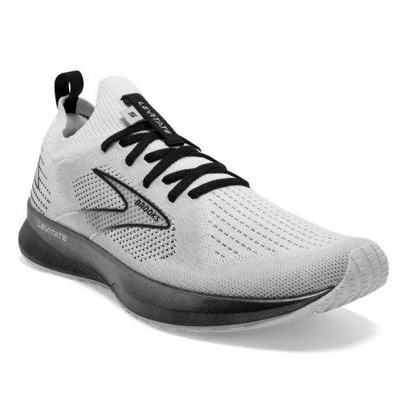 Brooks Levitate StealthFit 5 Herren Laufschuh Neutral - 110372 1D 135 White/Grey/Black