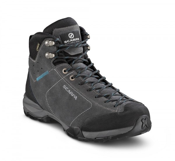 Scarpa Mojito Hike GTX Herren Wanderschuh Gore-Tex - 63311G-M-0853 - Farbe Shark/ Lake BLue