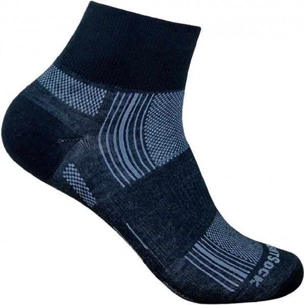 Wrightsock Stride Quarter - Doppellagige Anti-Blasen-Socke - 825 Black