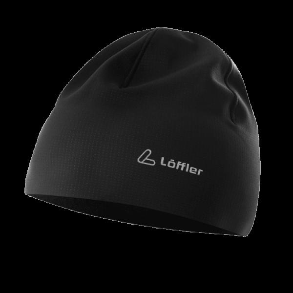 Löffler Carbon Look Hat OC, Mütze mit extrabreitem Rand One Size - 24046 990 Schwarz