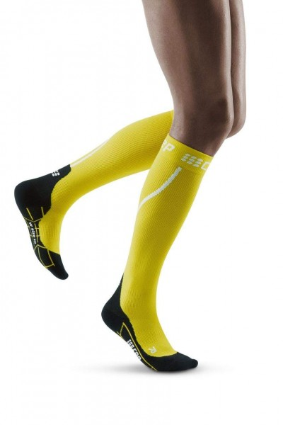 CEP Winter Run Socks Damen Compression Laufsocke - Gelb - WP40GU