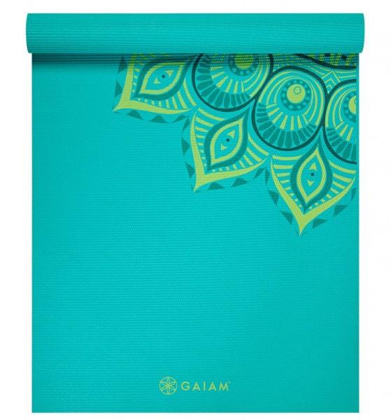 Gaiam Premium Printed Yoga Mat Capri 6 mm türkis - 62204