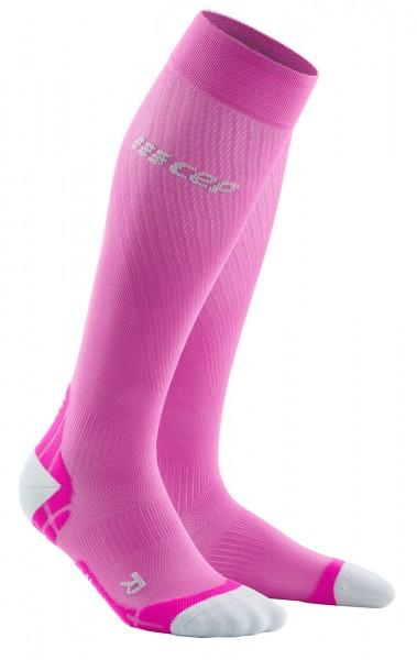 CEP - Run Ultralight Socks Damen | extra leichte, lange Kompressionssocke - Pink - WP40LY