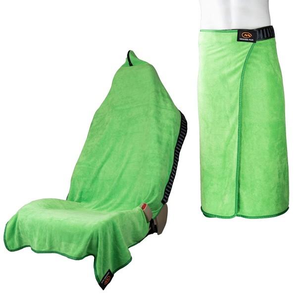 Orange Mud Transition Wrap 2.0 - Sporthandtuch Autositzbezug Umziehhilfe - Lime Green