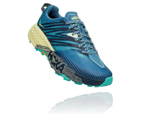 Hoka Speedgoat 4 Damen Laufschuh Trail - 1106527-PBLG Farbe Provincial Blue / Luminary Green