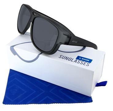 ActiveSol Überzieh-Sonnenbrille  Flieger Pilotenbrille El Aviador UV400 Schutz polarisiert  - grau - 101811