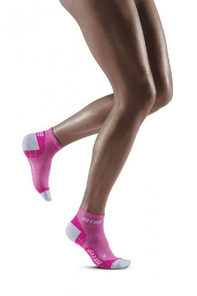 CEP Ultralight Compression Low Cut Socks - Damen Kompressionssocke - WP2ALY Electric Pink-Light Grey