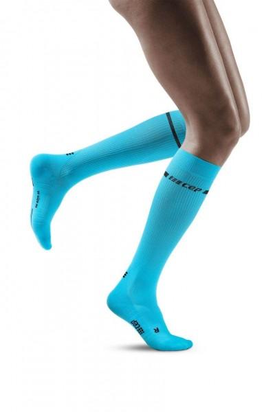 CEP - Neon Socks Damen, lange Kompressionssocke - WP20BG Neon Blue