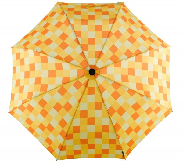 Euroschirm Swing handsfree - Der erste echte handfreie Trekking-Stockschirm - Regenschirm - W2H6 - gelb gemustert - CWS3