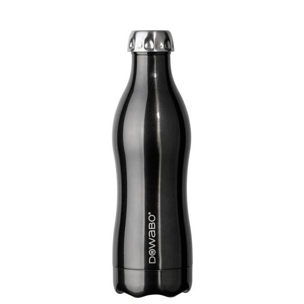 DOWABO Isolierflasche - Edelstahl Flasche - 500 ml Metallic Collection Black - DO-05-met-bla